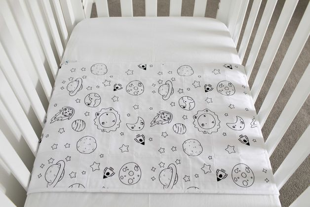 Brolly Sheets: Cot Pad with Wings - Space Galaxy