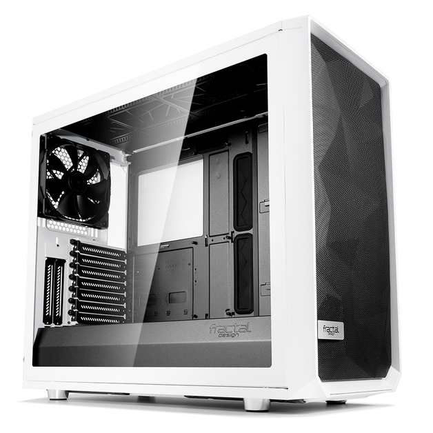 Fractal Design: Meshify S2 - White - Clear Tempered Glass