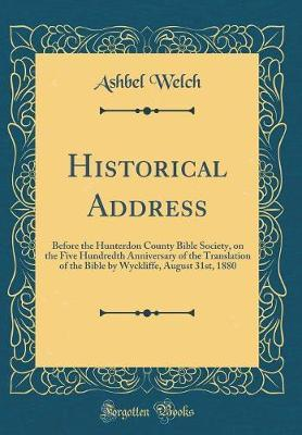 Historical Address by Ashbel Welch