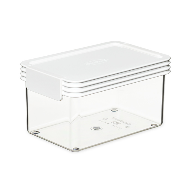 ClickClack: Basics Container - White (0.9L)