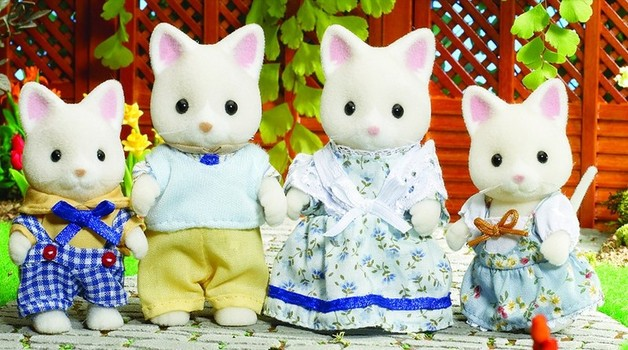 Sylvanian Families: Silk Cat Family