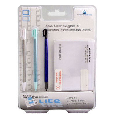 Futuretronics Lite Stylus & Screen Protection Pack for Nintendo DS image