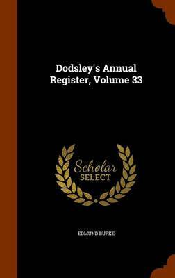 Dodsley's Annual Register, Volume 33 by Edmund Burke image
