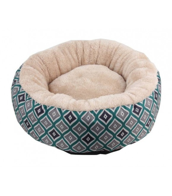 """Pawise: Round Dog Bed - Green/16"""""""