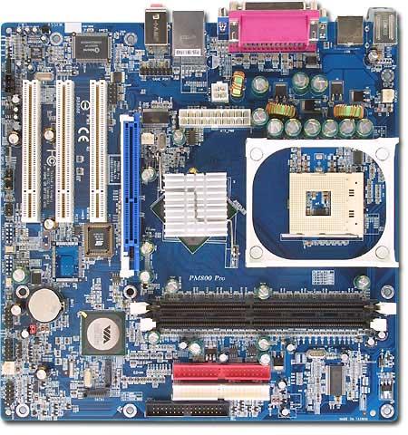 Albatron Motherboard PM800 PRO SKT 478 VGA+LAN+5.1 SND 800FSB image