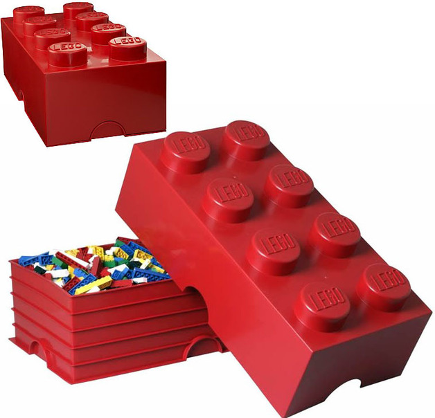 LEGO Storage Brick 8 (Red)