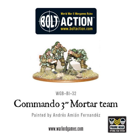 """British Army - Commando 3"""" mortar team"""