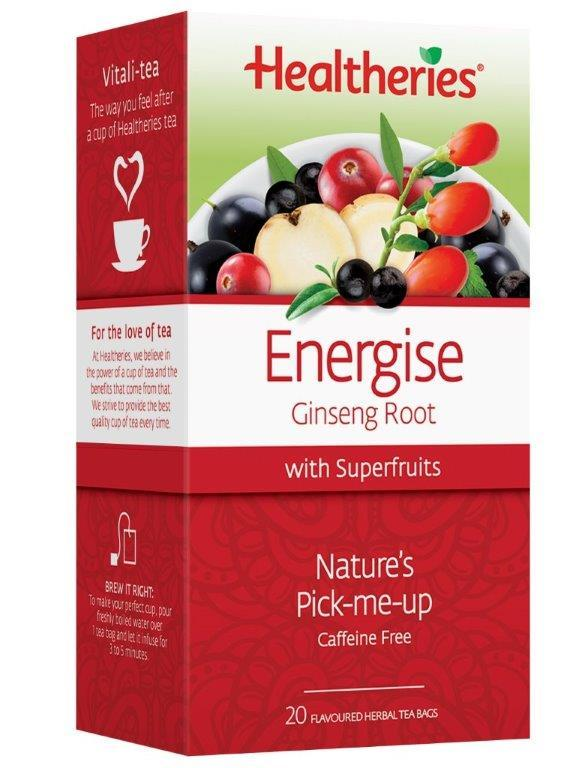 Healtheries Energise with Superfruits Tea (Pack of 20)