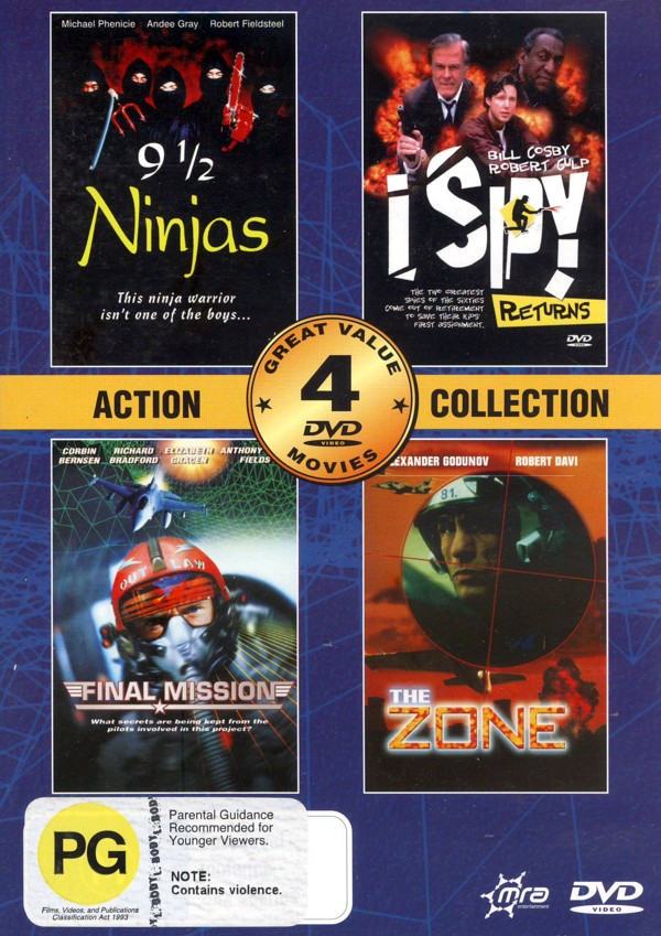 Action Collection (9 1/2 Ninjas, Final Mision, I Spy Returns, The Zone) (2 Disc) on DVD image
