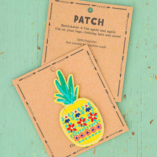 Natural Life: Restickable Patch Fabric - Pineapple