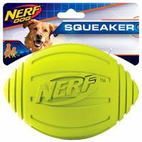 Nerf Dog Rubber Squeak Green Football image