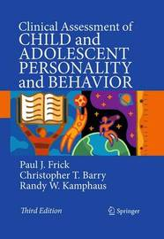 Clinical Assessment of Child and Adolescent Personality and Behavior by Paul J. Frick image