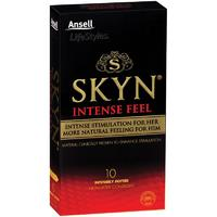 Ansel SKYN Intense Non Latex Condoms (10 Pack)