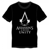 Assassins Creed Unity Logo Black T-Shirt (Large)