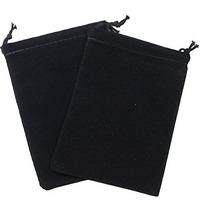 Suede Cloth Dice Bag (Small, Black)