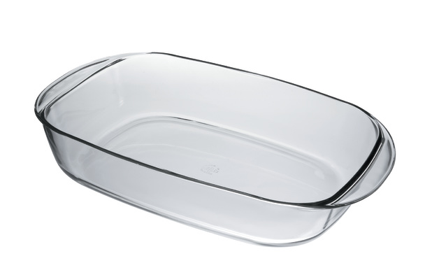 Ovenchef Large Rectangular Roasting Dish - Clear Glass (41cm)