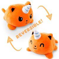 TeeTurtle: Reversible Mini Plush - Kittencorn (Orange)