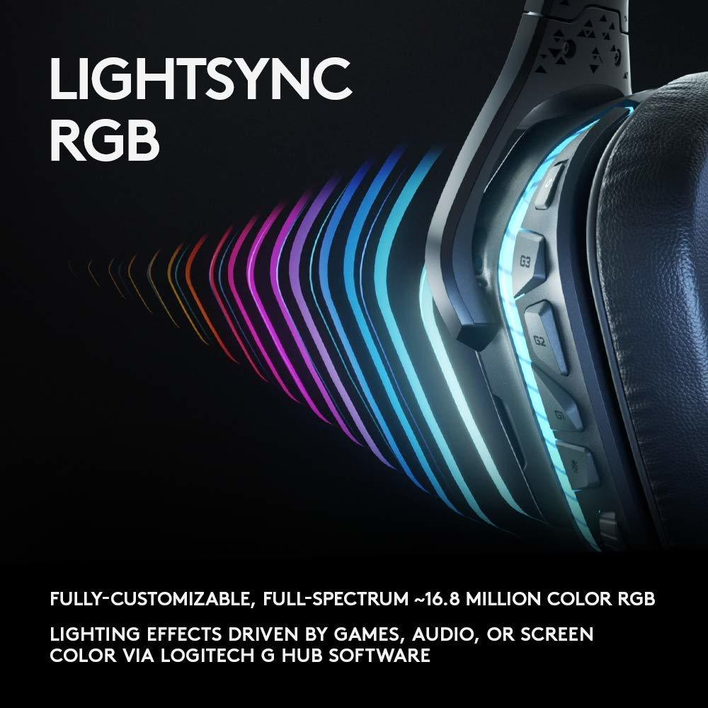 Logitech G935 Wireless 7.1 Surround Sound Lightsync Gaming Headset for PC image