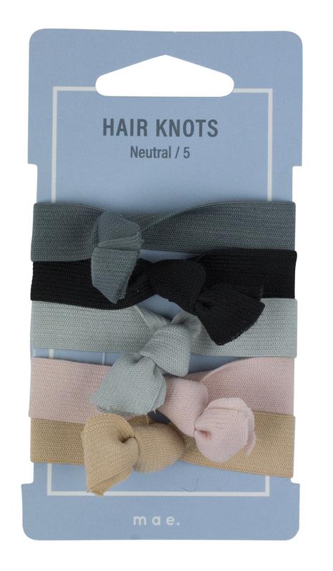 Mae: Elastics Hair Knots Neutral (5)