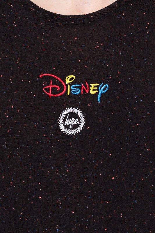 Just Hype: Disney Lockup Kids T-Shirt - Black - 7-8y