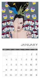 Jane Galloway: Palm Prints 2021 Wall Calendar