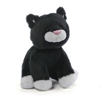 Gund: Animal Chatter Cats Plush - Black/White