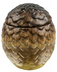 Game of Thrones: Viserion Dragon Egg Ceramic Jar (Tan)