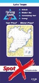 Spot X Lake Taupo Chart: Fishing Spots by X Spot