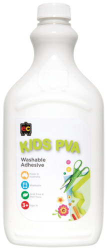 Educational Colours: Kids Washable - PVA Glue (2L)