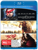 Alexander Revisited/Troy/300 on Blu-ray