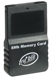 Tru Blu 8MB Memory Card (Black) for GameCube