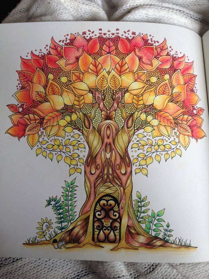 Enchanted Forest An Inky Quest And Colouring Book By Johanna Basford Image