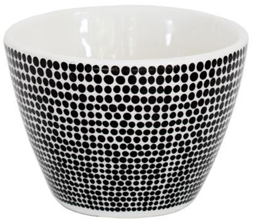Ceramic Cotton Tip Bowl (Black Spot) image