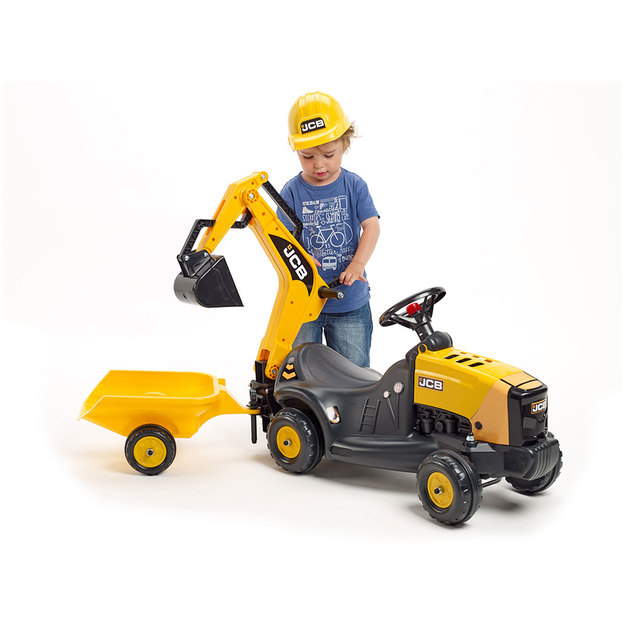JCB: Vehicle with Trailer and Backhoe