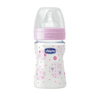 Chicco: Well-Being Silicone Bottle - 0m+ 150ml (Girl) image
