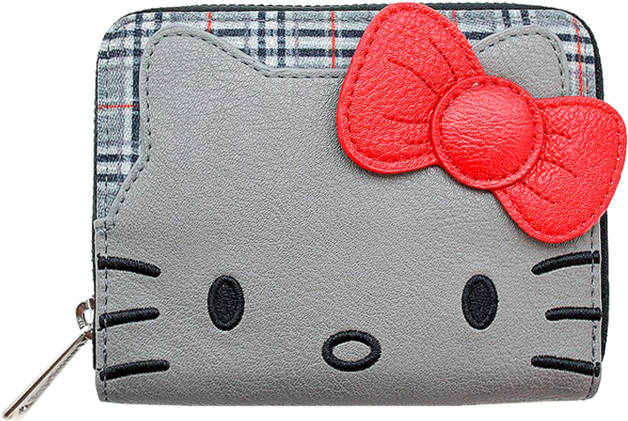 Loungefly: Hello Kitty - Grey Bifold Wallet with Bow