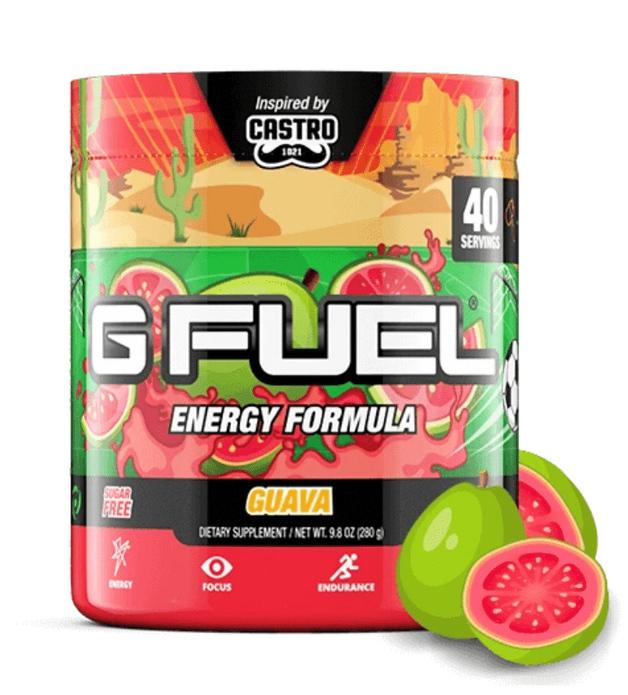 G FUEL Energy Formula - Castro's Guava (40 Servings)