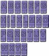 Bubber A-Z Upper Case Alphabet Stamps