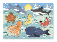 Melissa & Doug: Sea Creatures Peg Puzzle 6 Pieces