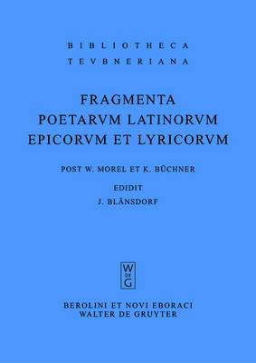 Fragmenta Poetarum Latinorum Epicorum Et Lyricorum image