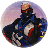 Overwatch Button - Soldier 76