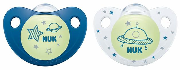 NUK: Glow in the Dark Soother - 18+ Months (2 Pack) Blue
