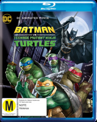 DC Batman vs Ninja Turtles on Blu-ray