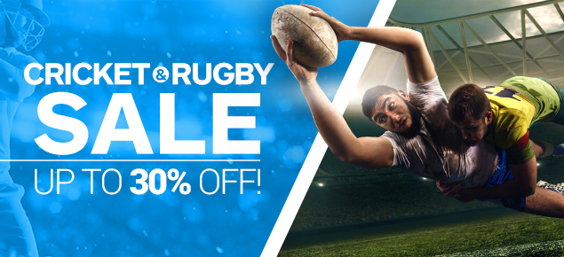 Cricket & Rugby Sale - Up to 30% off!