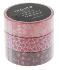 Maste Washi Tape - Red 10M Rolls (Set of 3)