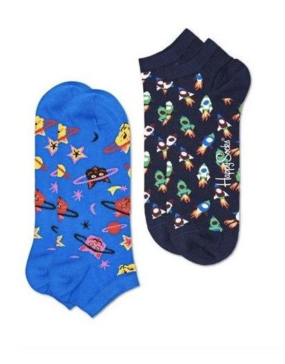 Happy Socks: Low Sock 2-Pack - Space Cat (36-40)