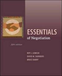 Essentials of Negotiation by Roy J Lewicki image