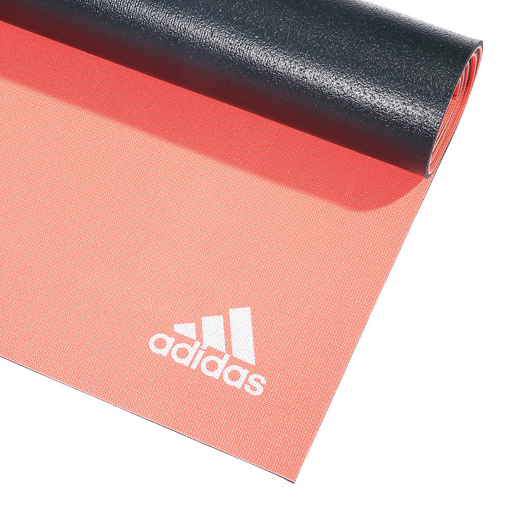 Adidas 6mm Double Sided Yoga Mat - Red/Dark Grey image