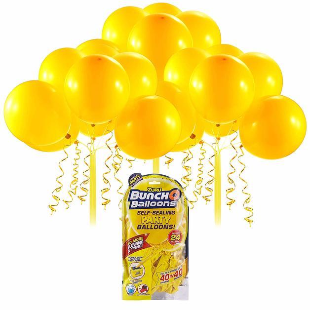 Bunch O' Balloons: Self Sealing Party Balloons - (24 x Yellow)