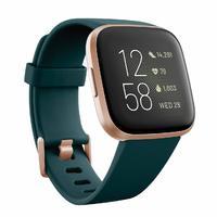 Fitbit Versa 2 Health & Fitness Smartwatch - Emerald/Copper Rose